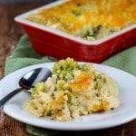 Chicken Broccoli Cheese Quinoa Casserole