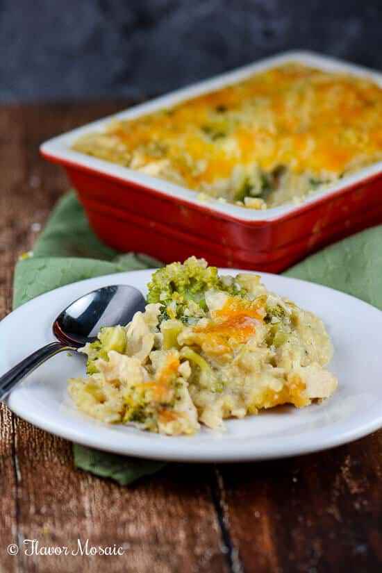 Chicken Broccoli Cheese Quinoa Casserole