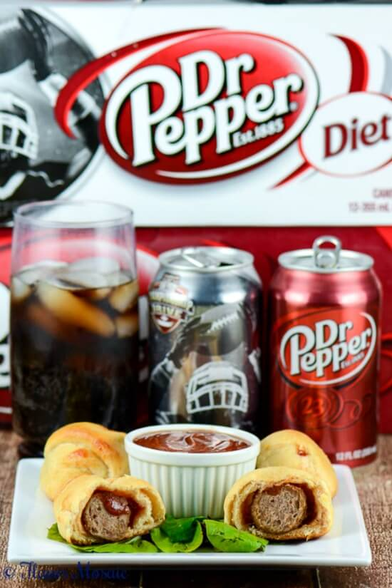 Dr Pepper Barbecue Meatball Crescents