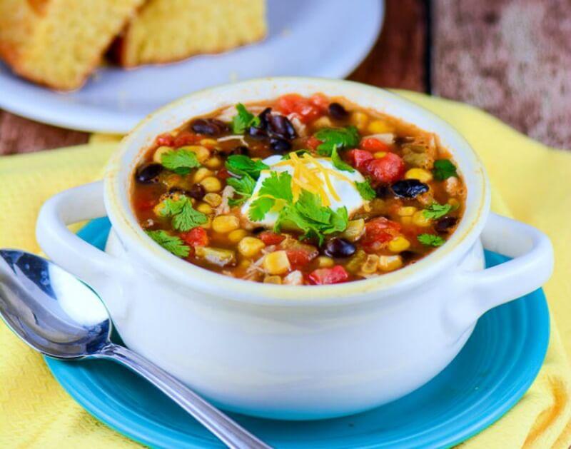 Slow Cooker Chicken Soup: Slow Cooker Chicken Enchilada Soup