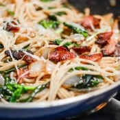 Bacon Spinach Garlic Pasta