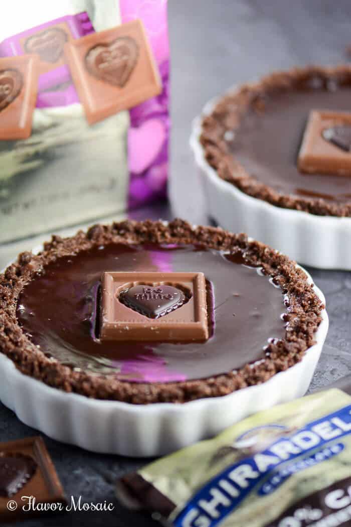 Chocolate Glazed Chocolate Tarts - Flavor Mosaic