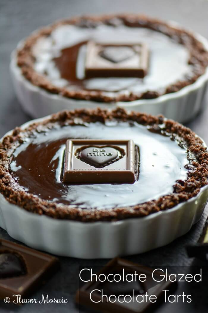 Chocolate Glazed Chocolate Tart Recipe — Dishmaps