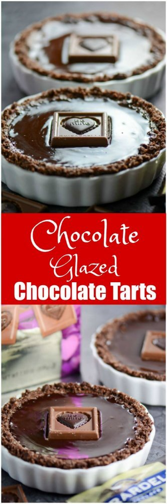 Chocolate Glazed Chocolate Tarts