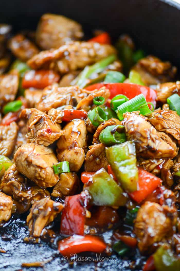 Easy Kung Pao Chicken Recipe - Penney Lane