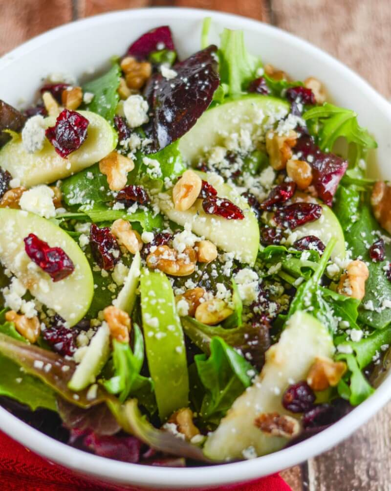 Apple Walnut Cranberry Salad - Flavor Mosaic