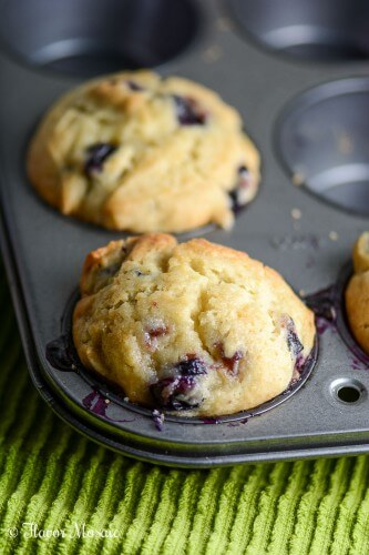 Light Gluten Free Blueberry Muffins