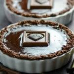 Chocolate Glazed Chocolate Tarts