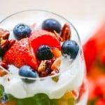 Strawberry Blueberry Yogurt Parfaits
