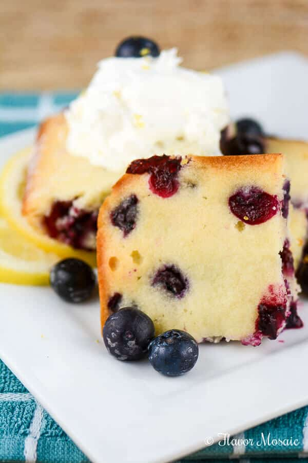 Cakey Lemon Blueberry Brownies