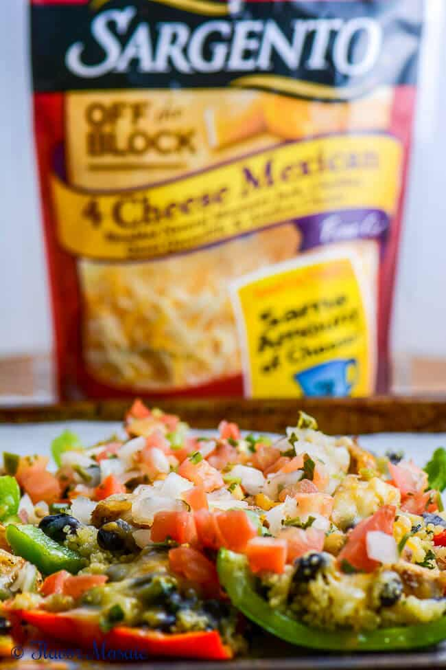 Cheesy Chicken Pepper Nachos