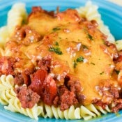 Spicy Cheeseburger Pasta Casserole