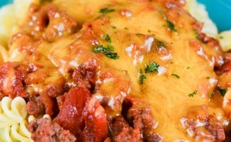 Spicy Cheeseburger Pasta Casserole