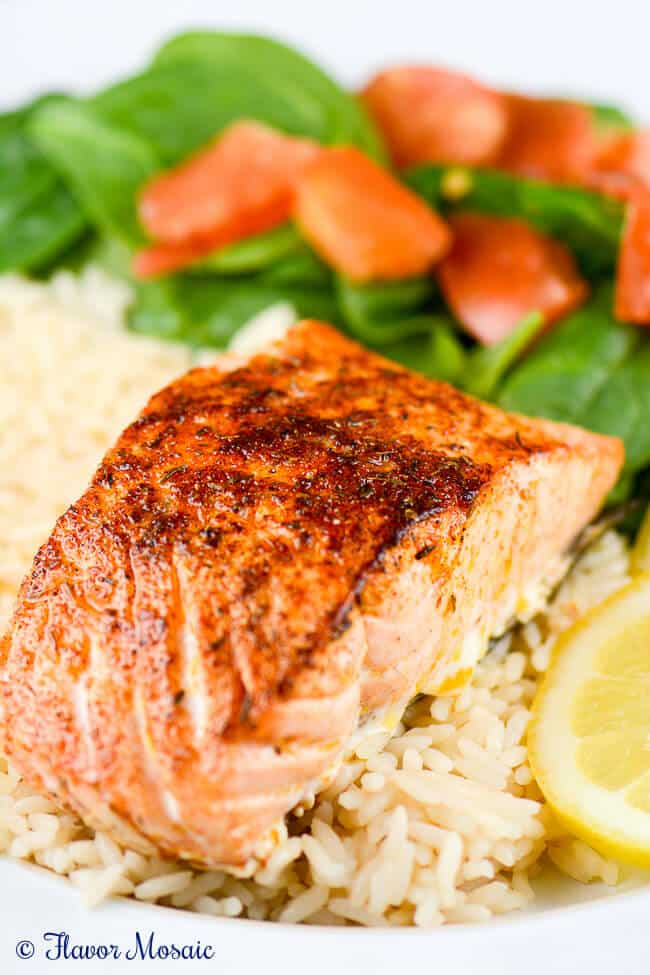 Cajun blackened salmon flavor mosaic for How to make blackened fish