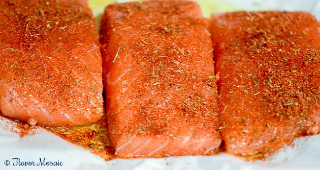 Cajun Blackened Salmon Flavor Mosaic