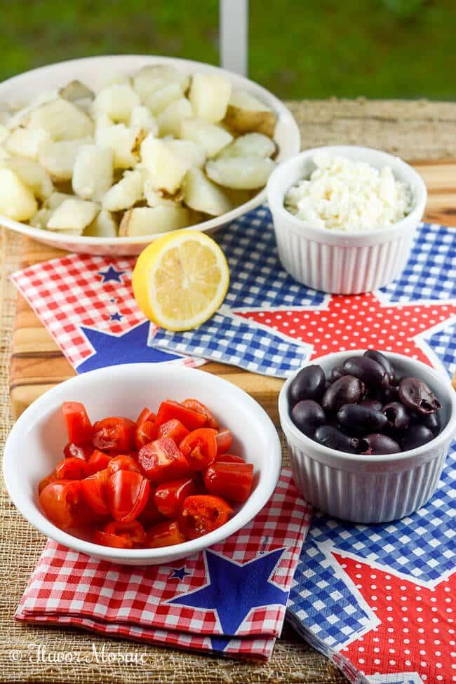 Greek Potato Salad Mediterranean Recipe is great for a picnic