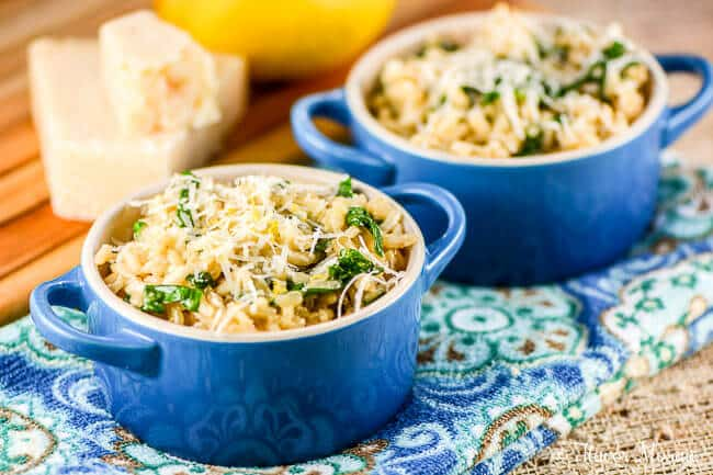 Lemon Parmesan Spinach Risotto