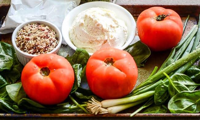 Ricotta Rice Tomatoes Florentine