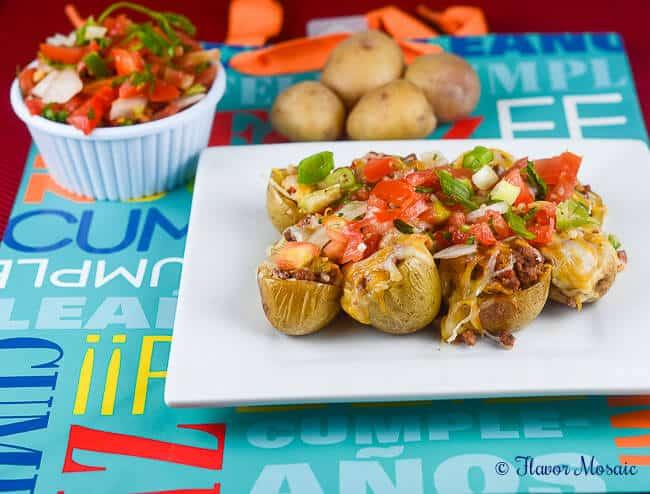 Cheesy Taco Potato Bites Appetizer Recipe
