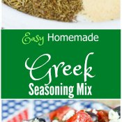Easy Homemade Greek Seasoning Mix by Flavor Mosaic takes only 5 minutes to make and adds a delicious Greek flavor to your favorite dishes.