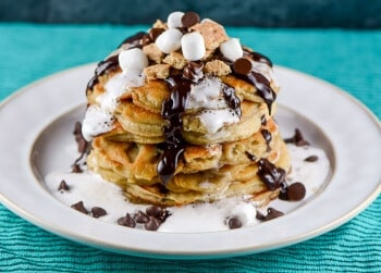S'Mores Chocolate Chip Pancakes - Featured Recipe