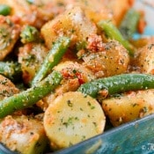 Green Bean Potato Salad with Sun-Dried Tomato Pesto