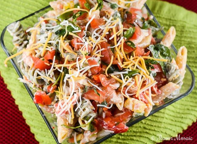 fiesta garden ranch pasta salad recipe