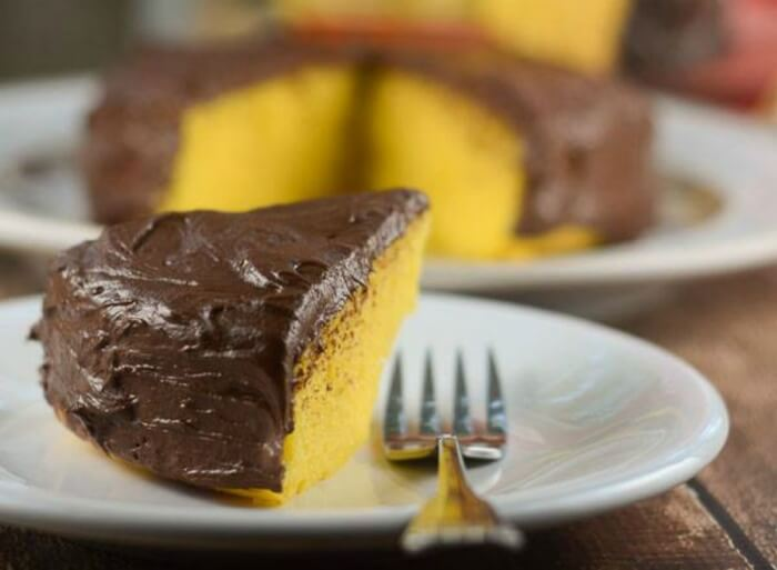 Easiest Gold Fudge Cake Perfect Size