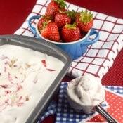 Easy Homemade No Churn Strawberry Ice Cream