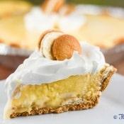 No Bake Banana Pudding Cream Pie