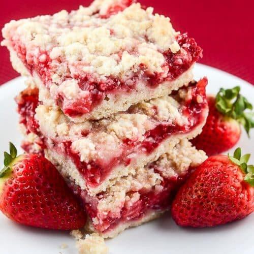 Strawberry Crumb Bars Flavor Mosaic