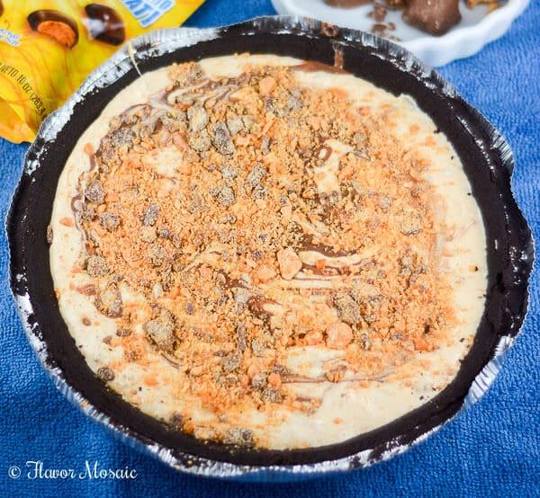 No Bake Peanut Butter Butterfinger Pie
