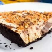 No Bake Peanut Butter Butterfinger Pie