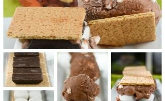 S'mores Ice Cream Sandwich Collage