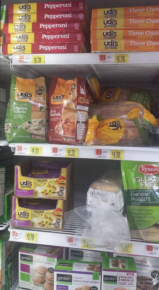 Udi's Chicken Alfredo & Glutino's English Muffins Gluten Free Walmart