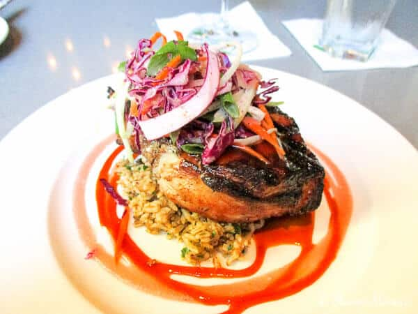 Absinthe Barbequed Double cut Pork Chop - Cafe Adelaide - New Orleans La