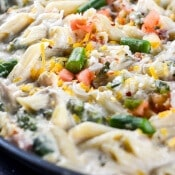 Cheesy Chicken Skillet Pasta