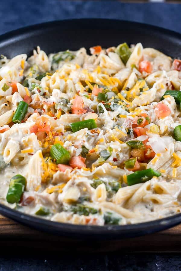 Cheesy Chicken Skillet Pasta