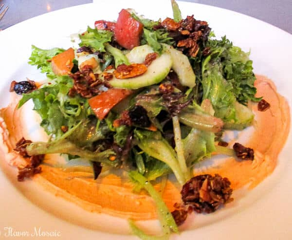 Cafe Adelaide Peaches and Cream Salad New Orleans Restaurant