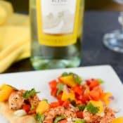 Mango Habanero Shrimp Flatbread #SundaySupper