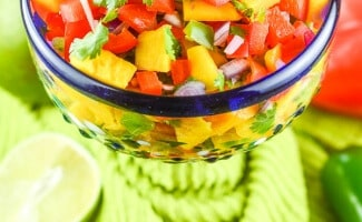 Sweet and Spicy Mango Habanero Salsa