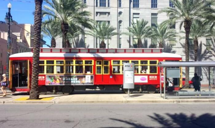 New Orleans La Canal Street Trolley Car Tourist Tourism