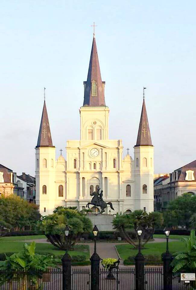 St Louis Cathedral Jackson Square New Orleans Louisiana - Read about our Foodie New Orleans Weekend Getaway, which features three restaurants where we enjoyed dinner, two of which participate in #CoolinaryNola