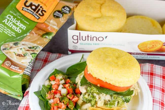 Chicken Alfredo Sliders - Udis Gluten Free Walmart-5