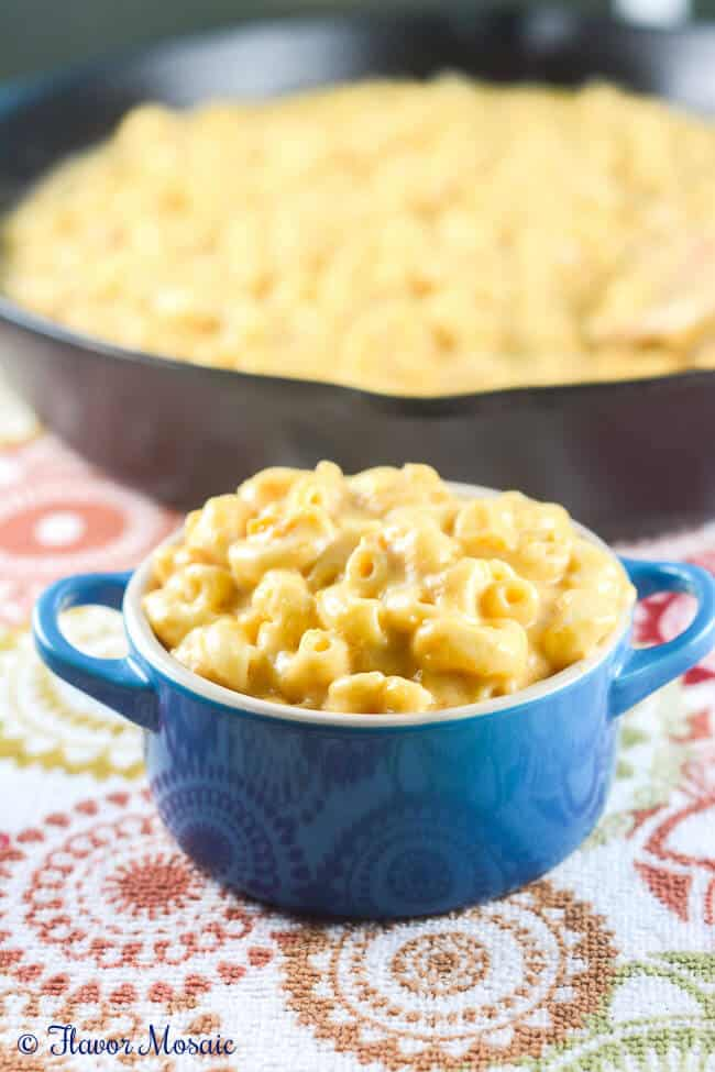 Chipotle Butternut Squash Skillet Mac n Chees