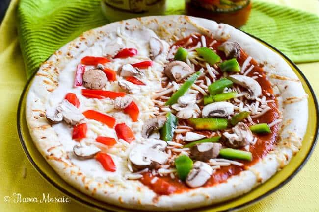 Garlic Parmesan Vegetable Pizza-5