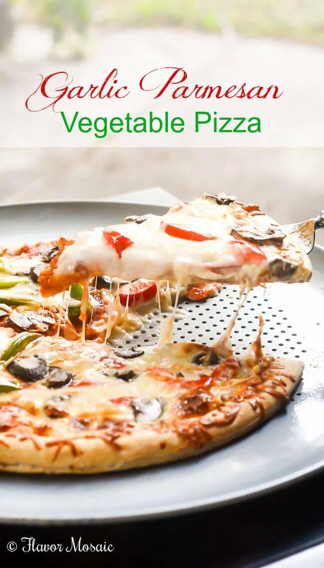 Garlic Parmesan Vegetable Pizza