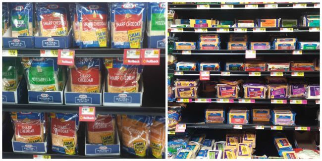 Kraft Natural Cheeses - In store photo Walmart
