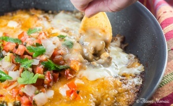 Cheesy Beef Enchilada Dip