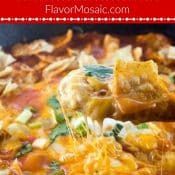 Chicken Enchilada Skillet Dinner Pin